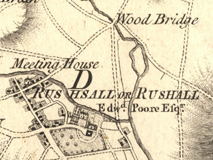 Andrew's and Dury's 1773 map of Rushall